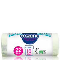 Ecozone Tear Resistant Bin Caddy Bags - Biodegradable and Compostable 10 Litre / 22 bags