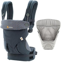 Ergobaby 360 Baby Carrier with Infant Insert Value Pack Dusty Blue