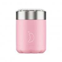 Chilly's Reusable Food Pots - Hot or Cold Foods in Leakproof Container Pastel Pink 300ml