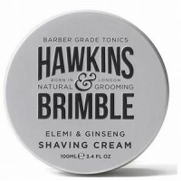 Hawkins and Brimble Elemi and Ginseng Shaving Cream - Barber Grade - Natural Ingredients