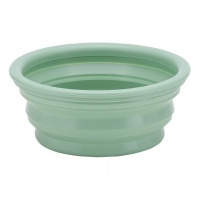 Hevea Doggy Bowl On The Go - Natural Rubber No Plastic Non Toxic Pale Mint