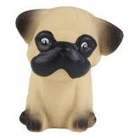 Hevea Puppy Teether Toy - Natural Rubber No Plastic Non Toxic Pug