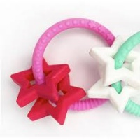 Jellystone BPA Free Silicone Easy to Grasp Stars Teether - Blossom