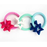 Jellystone BPA Free Silicone Easy to Grasp Stars Teether - Sapphire