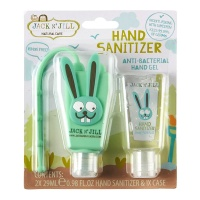 Jack n Jill Hand Sanitiser with Bag Clip 2 Pack - Bunny