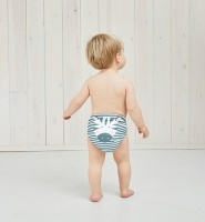 Kit & Kin Eco Friendly Reusable Cloth Nappy One-Size All-in-One Zebra
