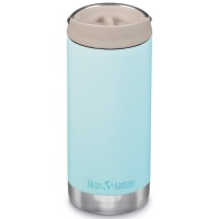 Klean Kanteen Insulated TK Wide - Perfect for Coffee or Cold Drinks 355ml/12oz Cafe Cap Blue Tint