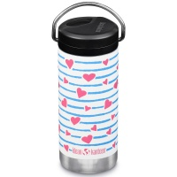 Klean Kanteen Insulated TK Wide with Twist Cap and Straw - 12oz/353ml Heart Stripe