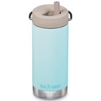 Klean Kanteen Insulated TK Wide with Twist Cap and Straw - 12oz/353ml Blue Tint