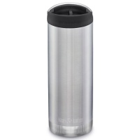 Klean Kanteen Insulated TK Wide - Perfect for Coffee or Cold Drinks On The Go 473ml/16oz Brushed Stainless Steel