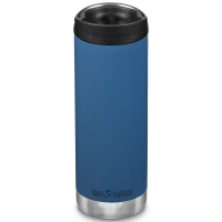 Klean Kanteen Insulated TK Wide - Perfect for Coffee or Cold Drinks On The Go 473ml/16oz Cafe Cap Real Teal