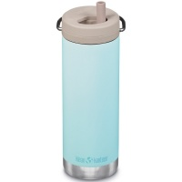 Klean Kanteen Insulated TK Wide with Twist Cap and Straw - 16oz/473ml Blue Tint