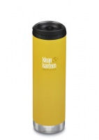 Klean Kanteen Insulated TK Wide - Perfect for Coffee or Cold Drinks On The Go 592ml/20oz Lemon Curry