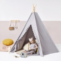 The Little Green Sheep Natural Wooden Baby Play Teepee - Spacious, Sturdy and Fun
