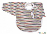 Iobio Organic Cotton Long Sleeved Bib Multicoloured Stripes