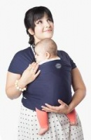 Moby Wrap Classic Stretchy Baby Carrier from Newborn  - Navy
