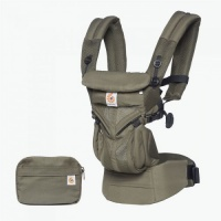 Ergobaby Omni 360 Cool Air 4 Position Newborn to Toddler Baby Carrier Khaki Green