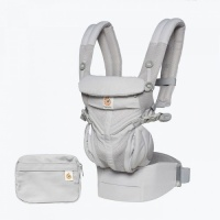 Ergobaby Omni 360 Cool Air 4 Position Newborn to Toddler Baby Carrier Pearl Grey
