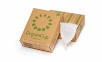 OrganiCup - the award-winning menstrual cup that replaces pads and tampons.