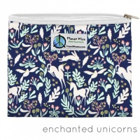 Planetwise Reusable Zipper Sandwich / Snack Bag Enchanted Unicorns