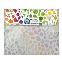 Planetwise Reusable Window Sandwich Bag Farmers Market