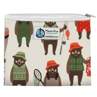 Planetwise Reusable Zipper Sandwich / Snack Bag Brawny Bears