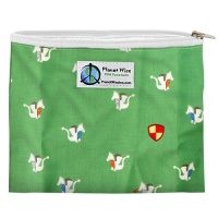 Planetwise Reusable Zipper Sandwich / Snack Bag Magic Dragon
