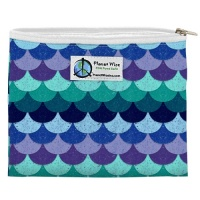 Planetwise Reusable Zipper Sandwich / Snack Bag Mermaids Tail
