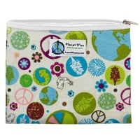 Planetwise Reusable Zipper Sandwich / Snack Bag Peace On Earth