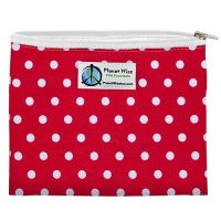Planetwise Reusable Zipper Sandwich / Snack Bag Red Dots