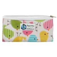 Planetwise Reusable Zipper Snack Bag Chick-a-dees