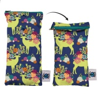 Planetwise Reusable Cleaning Wipes Pouch - Caribou Bloom