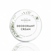 Warrior Natural Cream Deodorant  – Plastic free - Rosemary and  Cedarwood