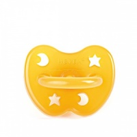 Hevea Natural Baby Soother - Orthodontic Teat - Moon & Stars