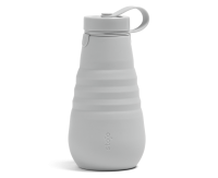 Stojo Reusable Water Bottle - Collapses Down to Fit in Your Pocket or Bag - 20oz Cashmere