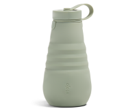 Stojo Reusable Water Bottle - Collapses Down to Fit in Your Pocket or Bag - 20oz Sage