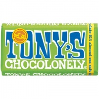 Tonys Chocolonely 100% Slave Free Chocolate Bar - Dark Almond Sea Salt