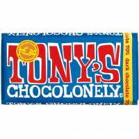 Tonys Chocolonely 100% Slave Free Chocolate Bar - Extra Dark Chocolate 70%