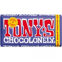 Tonys Chocolonely Fairtrade Chocolate Bar - Dark Milk Chocolate Pretzel Toffee