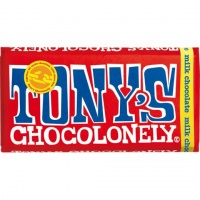 Tonys Chocolonely Fairtrade Chocolate Bar - Milk Chocolate