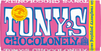 Tonys Chocolonely 100% Slave Free Chocolate Bar - White Rasberry Popping Candy