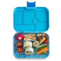 Yumbox Original Leak Free Lunchbox 6 Compartments Blue Fish