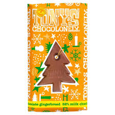 Tonys Chocolonely 100% Slave Free Christmas Chocolate Bar - Milk Chocolate Gingerbread